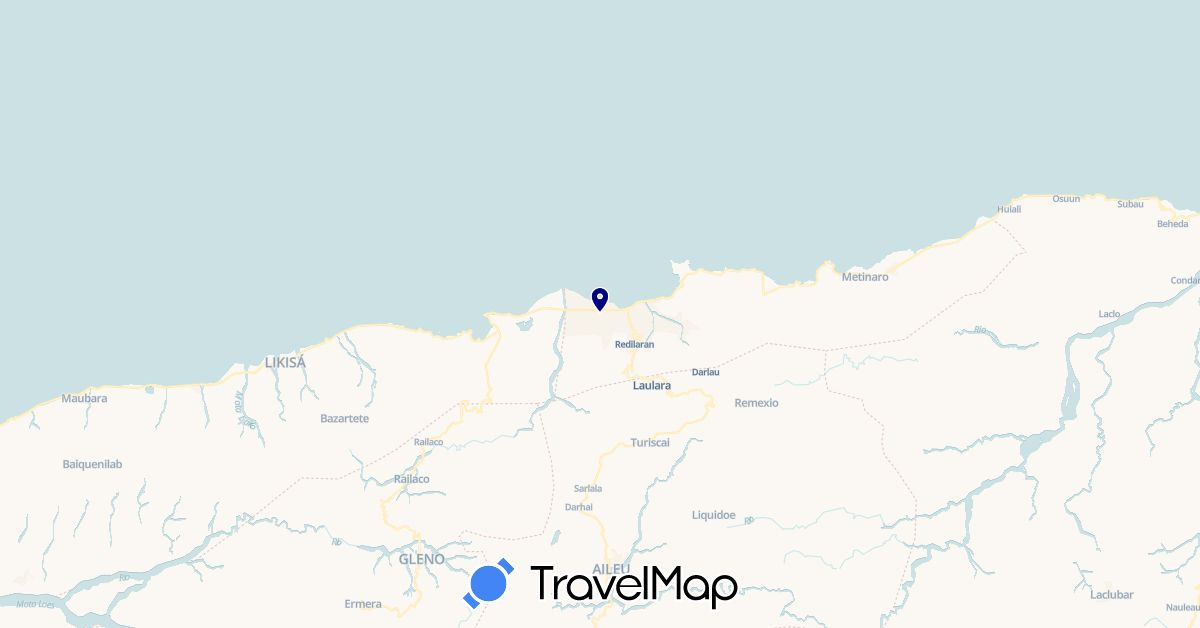TravelMap itinerary: driving in East Timor (Asia)